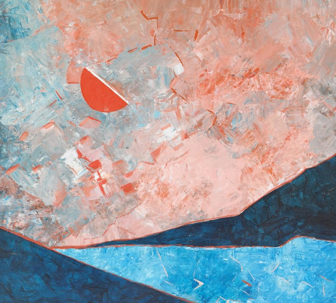 Abstract Composition, Oil on Canvas - 3