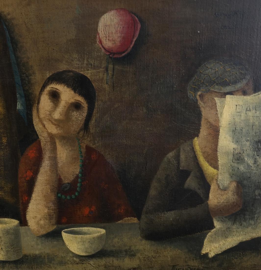 Marta Becket, Figural Scene, O/B - 4