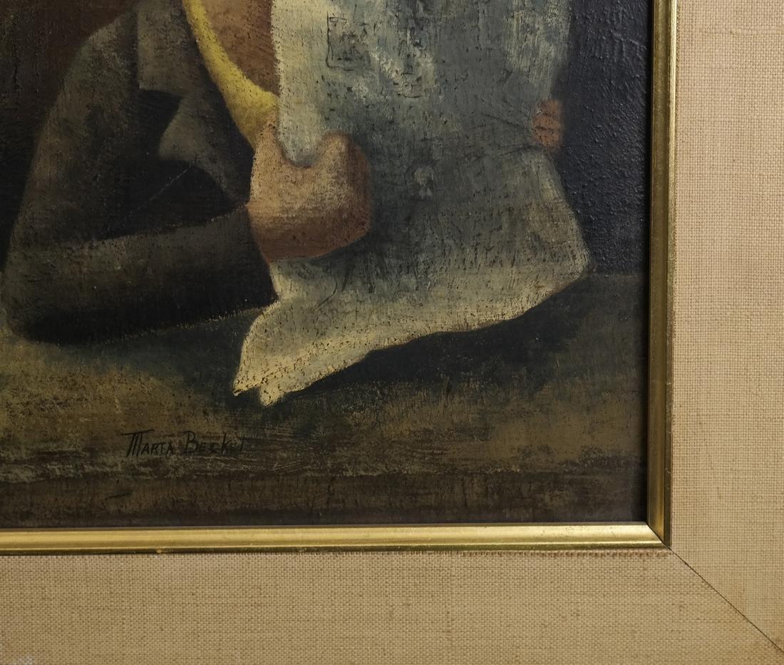 Marta Becket, Figural Scene, O/B - 5