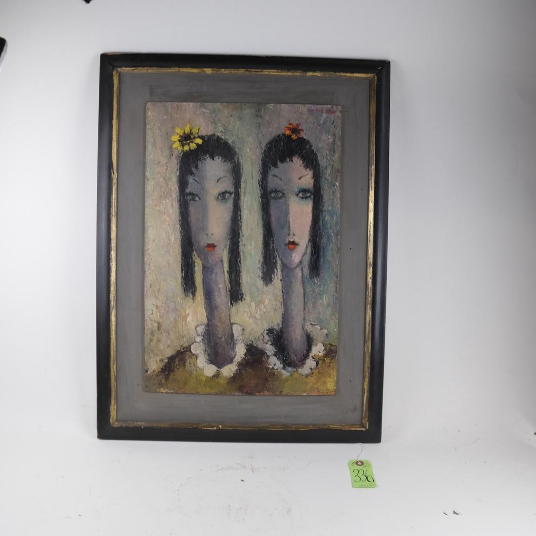 Milo, Portrait of Two Ladies, O/B