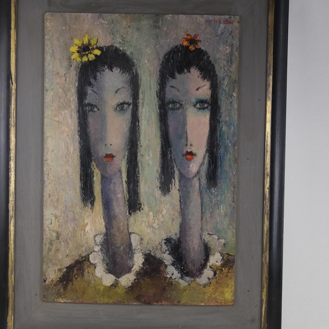 Milo, Portrait of Two Ladies, O/B - 2