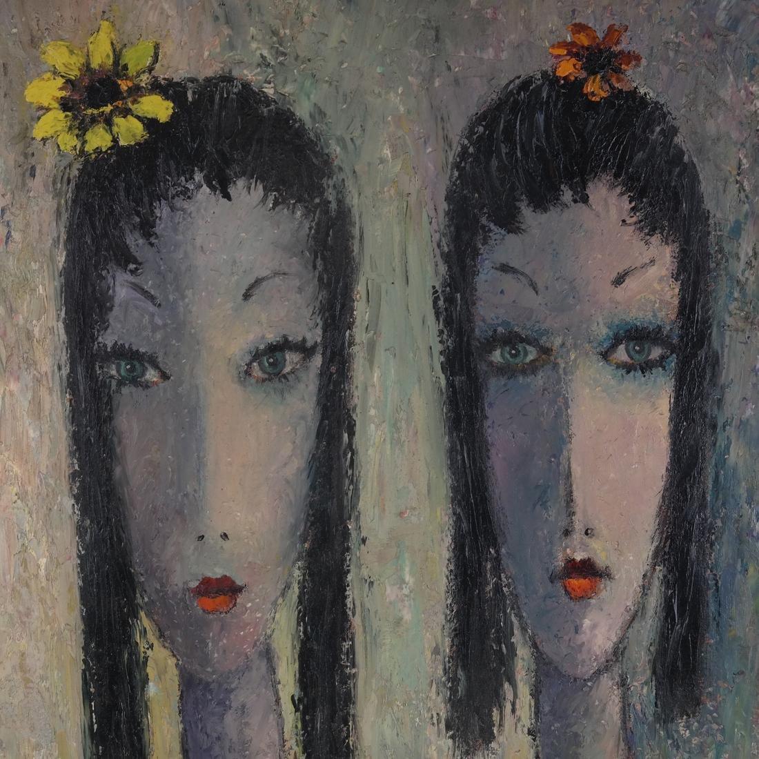 Milo, Portrait of Two Ladies, O/B - 4