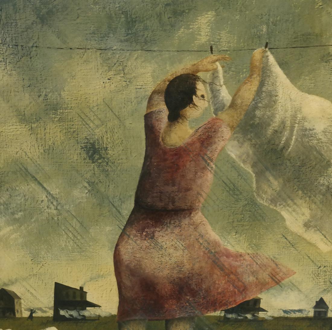 Marta Becket, Landscape With Figures, O/B - 3