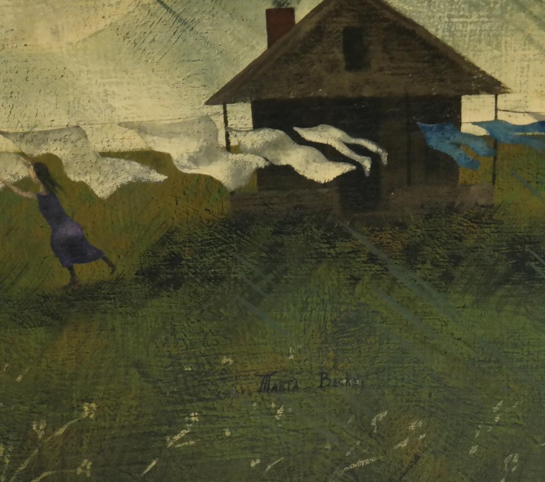 Marta Becket, Landscape With Figures, O/B - 4