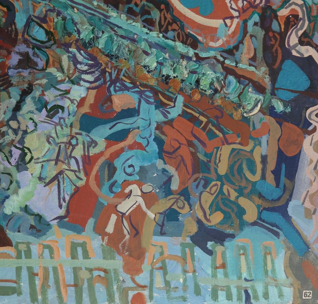 Russian Abstract Composition, O/C - 3