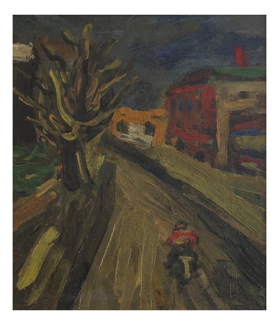 Benjamin Kopman, Cyclist, Oil on Canvas