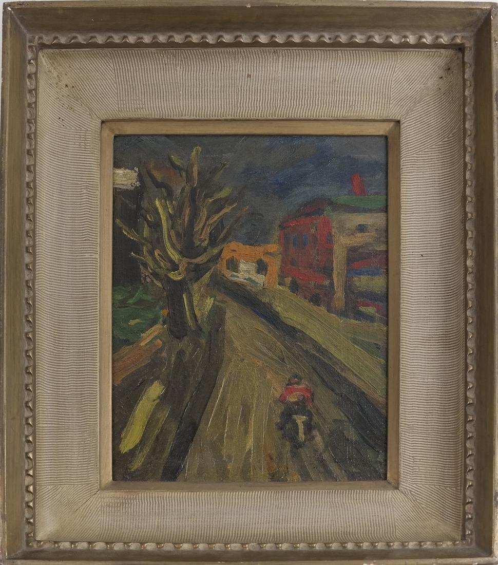Benjamin Kopman, Cyclist, Oil on Canvas - 2