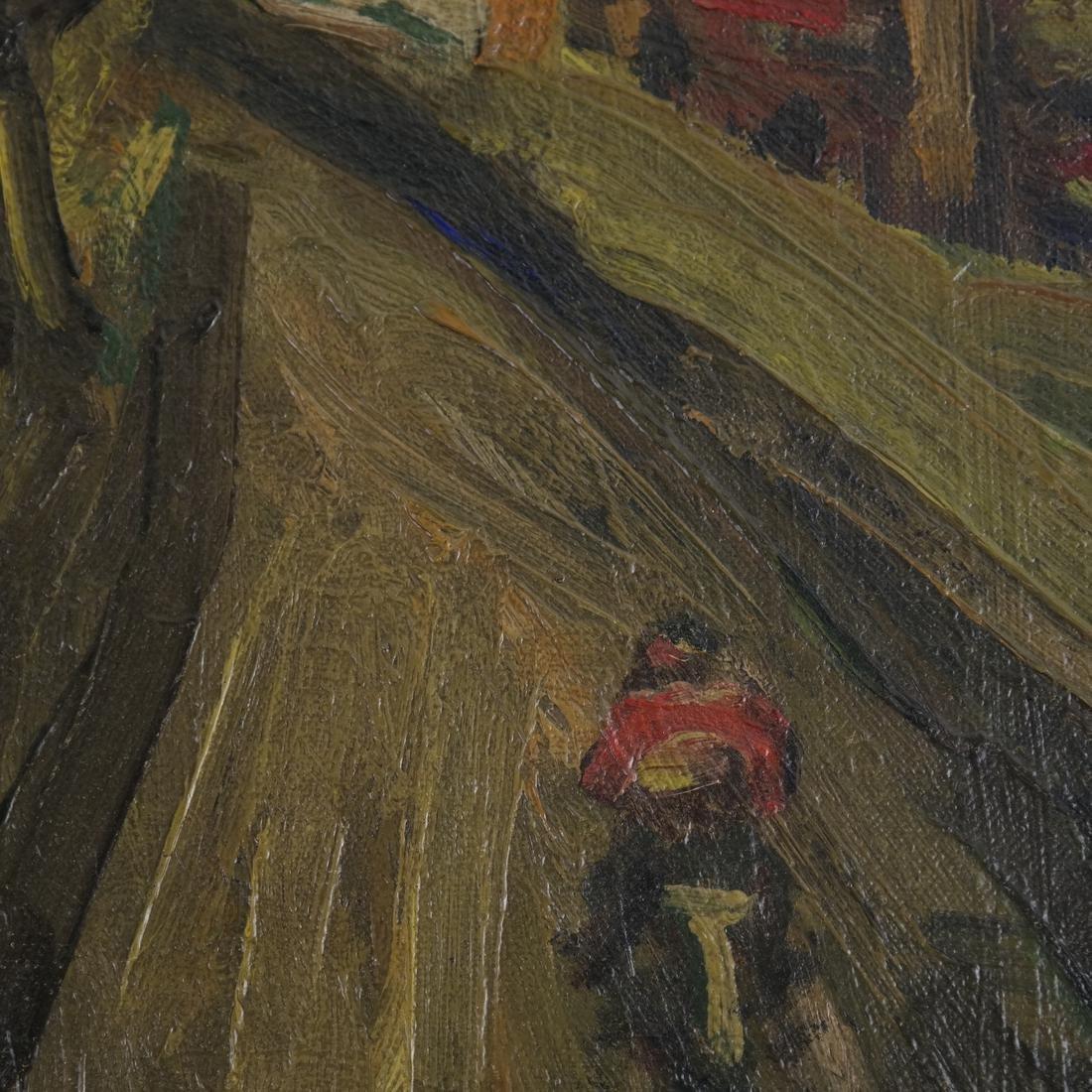 Benjamin Kopman, Cyclist, Oil on Canvas - 3