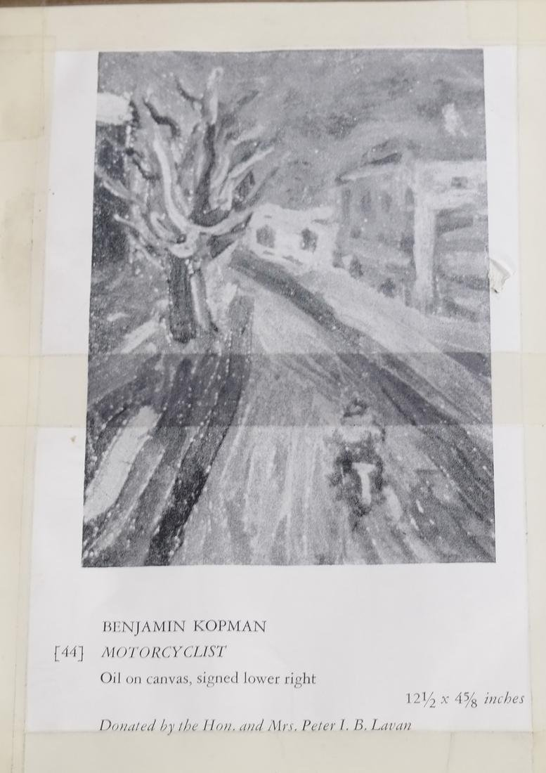 Benjamin Kopman, Cyclist, Oil on Canvas - 8