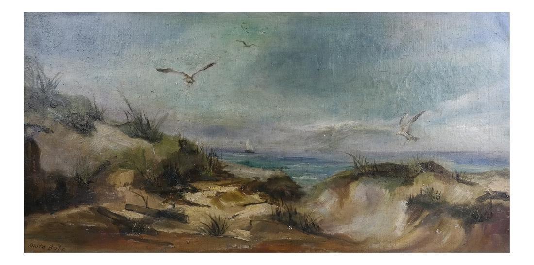 Antia Butz, The Beach, Oil on Canvas