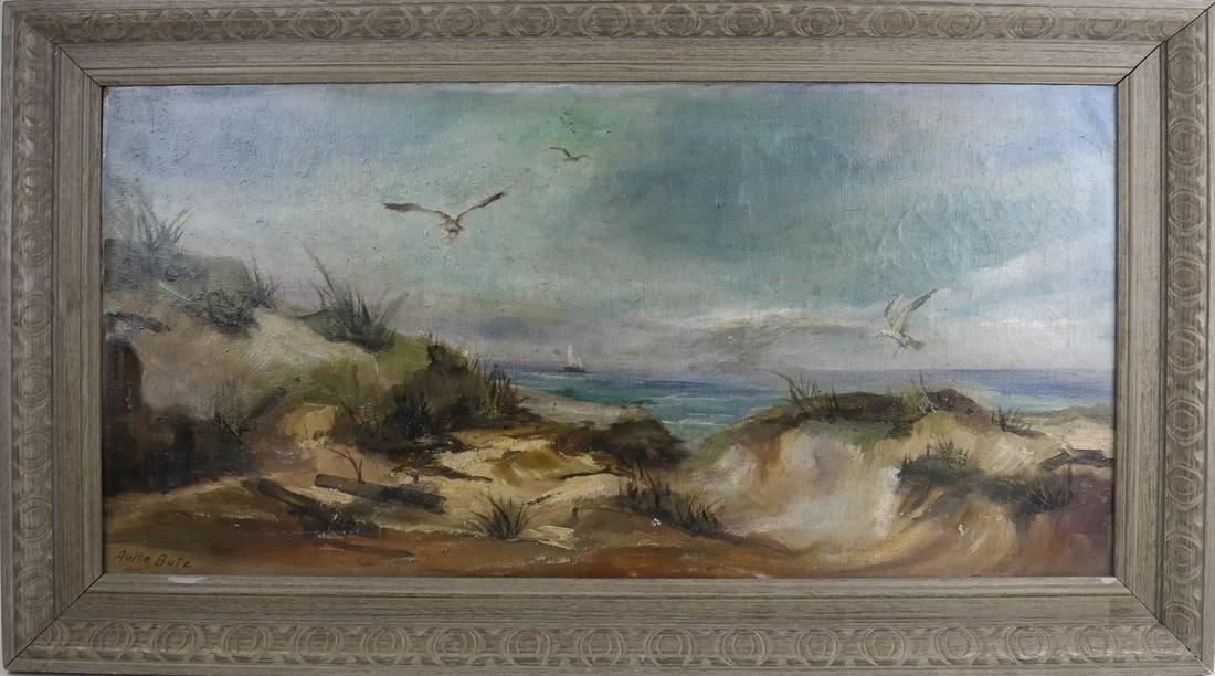 Antia Butz, The Beach, Oil on Canvas - 2