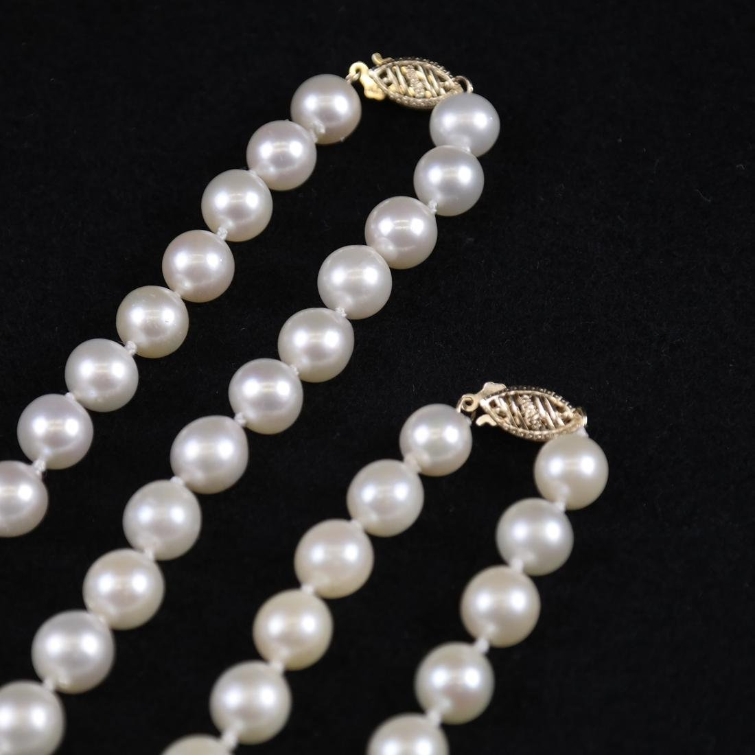 Two Cultured Pearl Necklaces - 4
