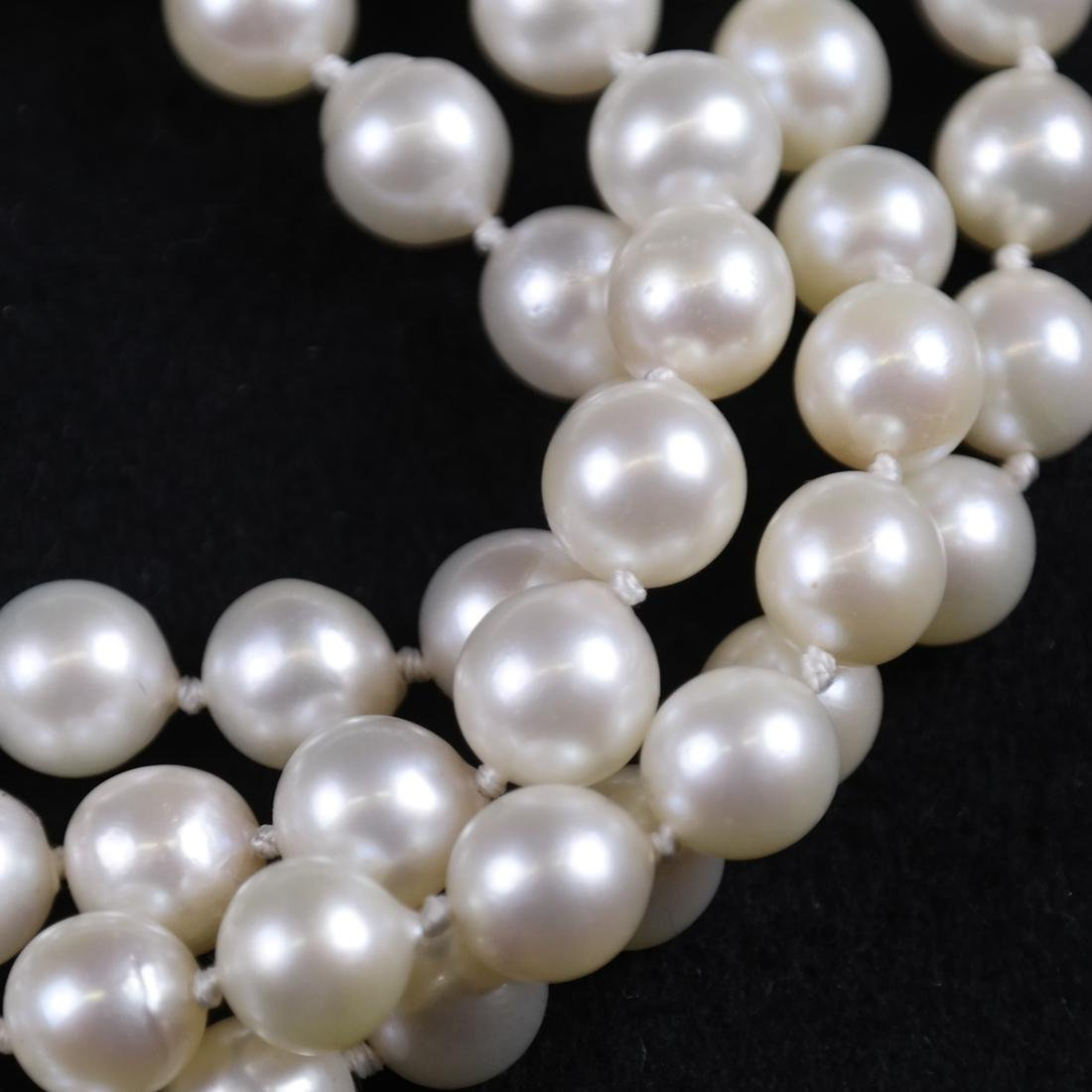 Two Cultured Pearl Necklaces - 5