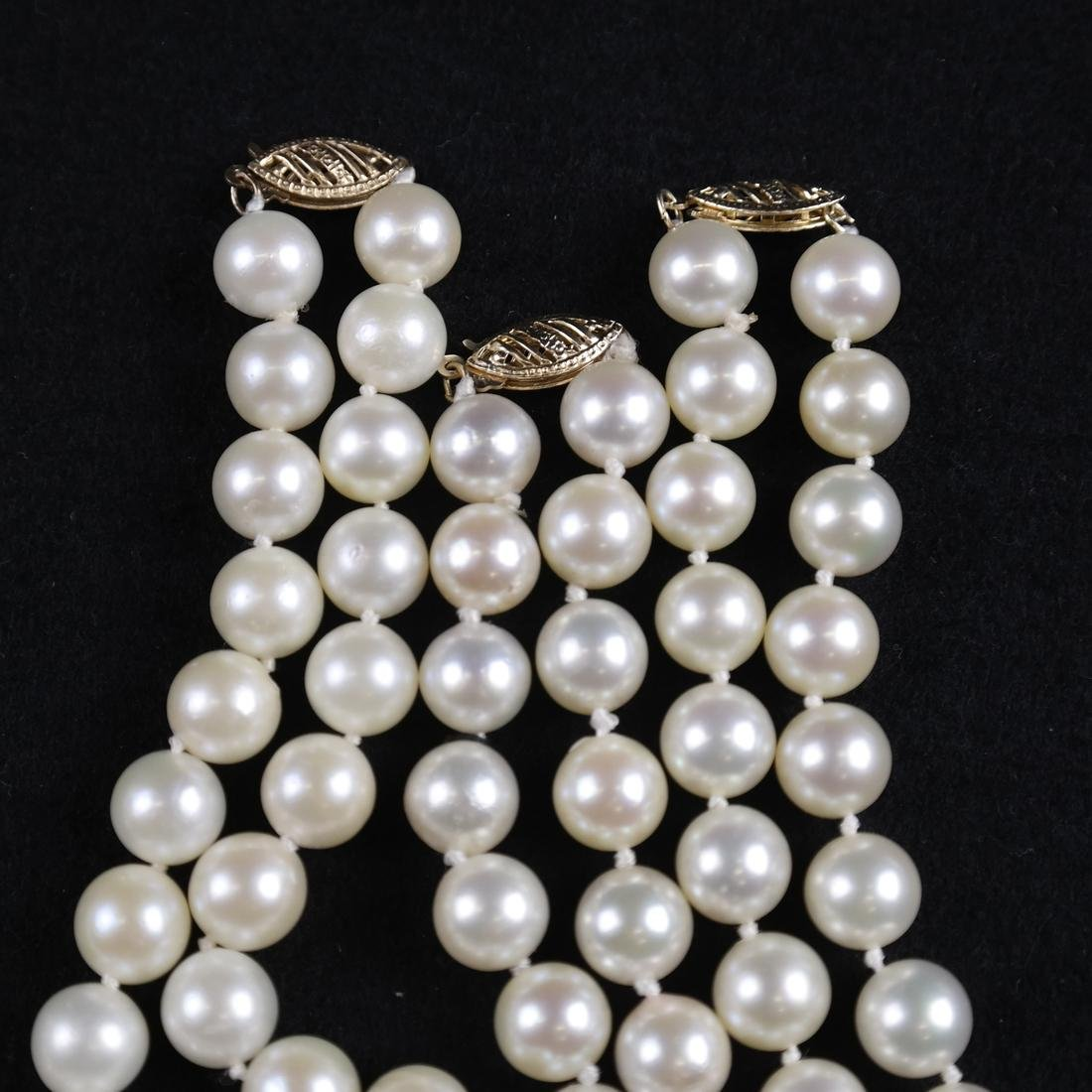 Three Pearl Necklaces. - 3