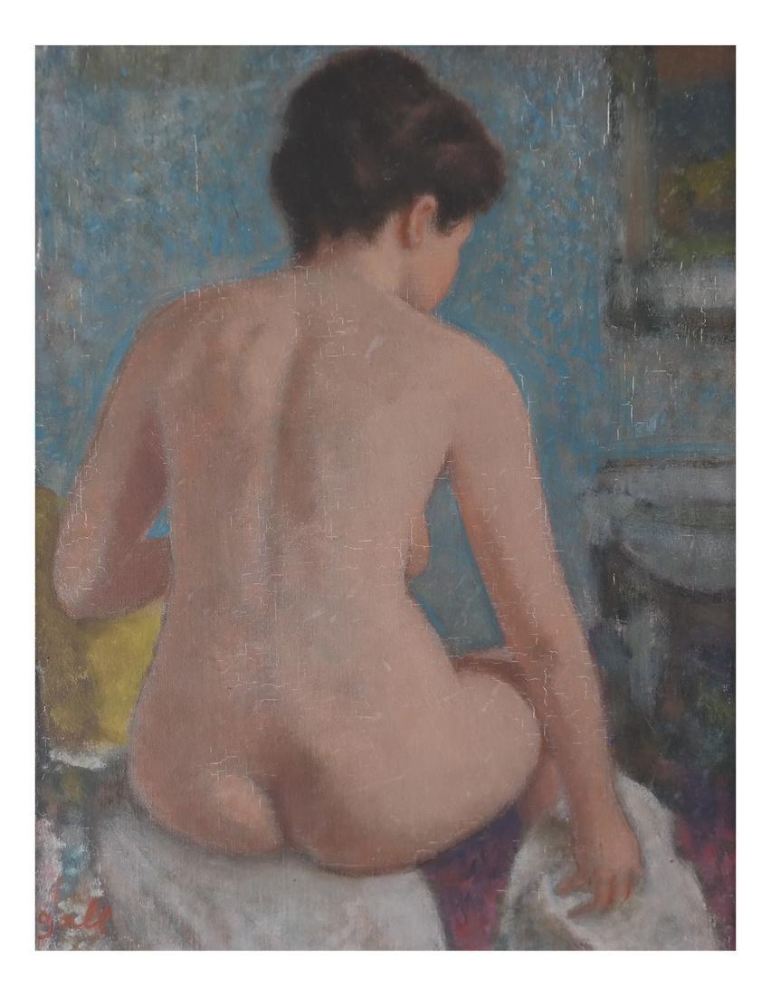 Francois Gall, Seated Nude, O/C