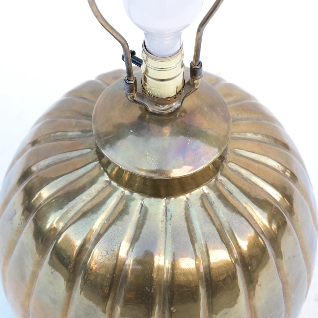 Gilt Copper Pumpkin-Form Lamp - 7