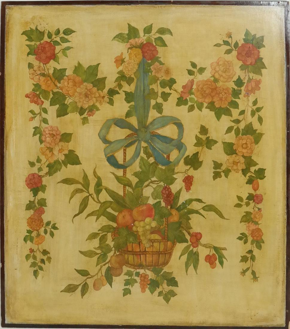 Hanging Basket, Oil on Wood