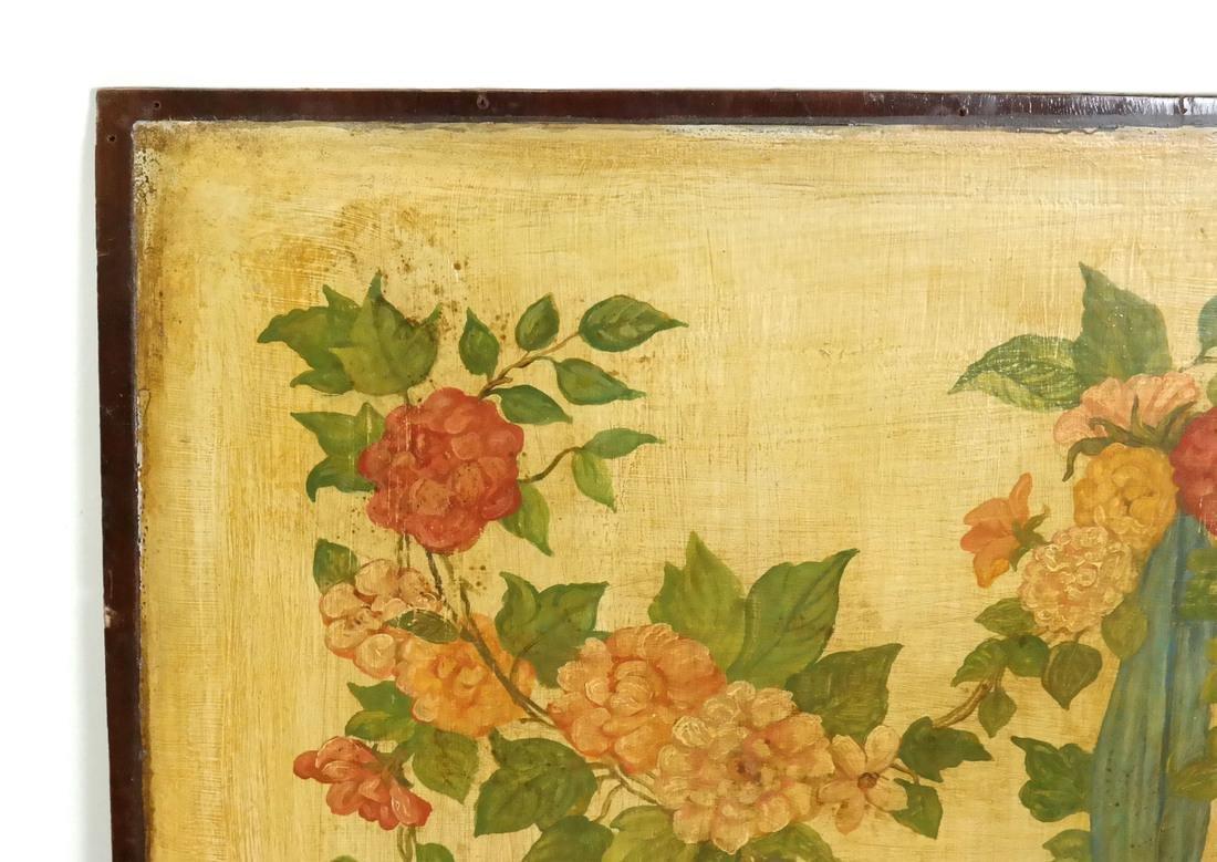 Hanging Basket, Oil on Wood - 2