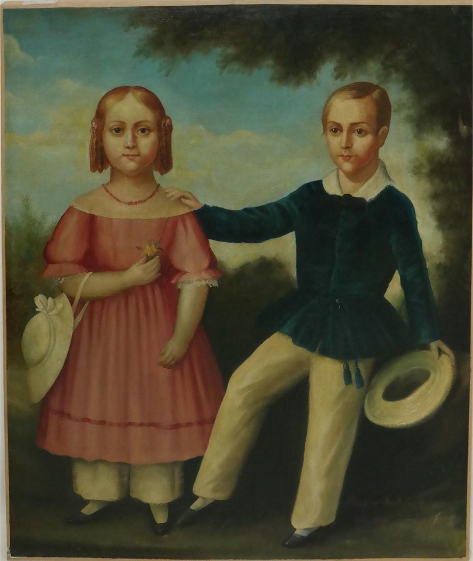 19th Century Folk Art Painting - 2