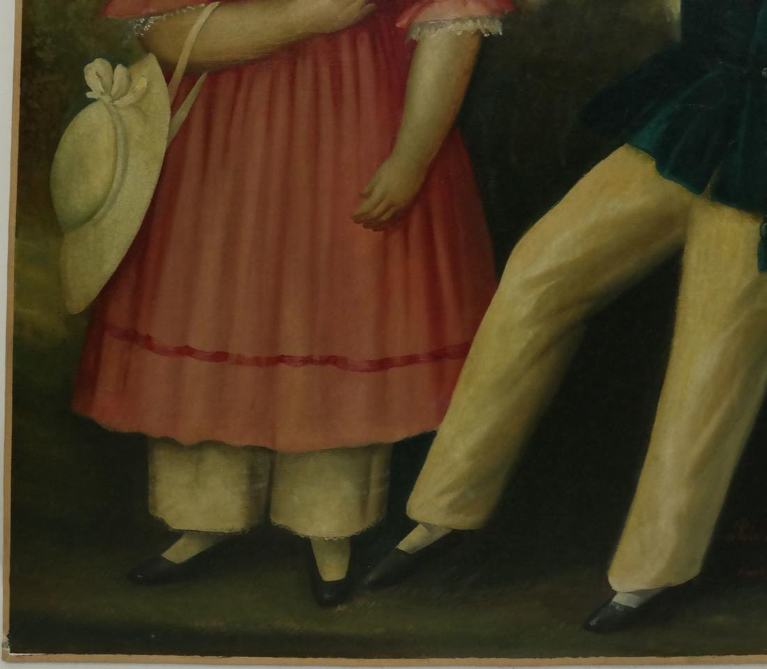 19th Century Folk Art Painting - 6