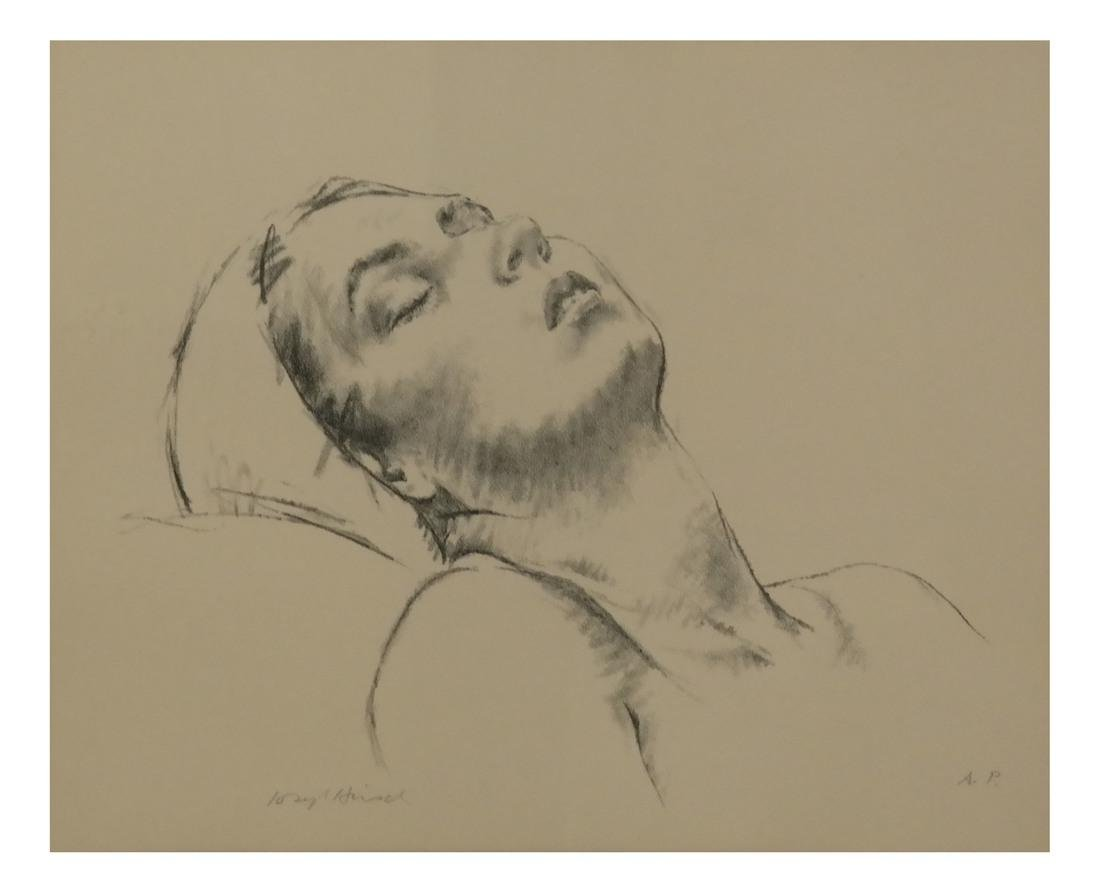 Joseph Hirsch, Girl Resting, Etching