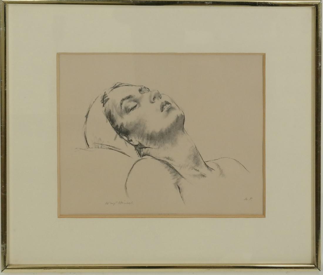 Joseph Hirsch, Girl Resting, Etching - 2