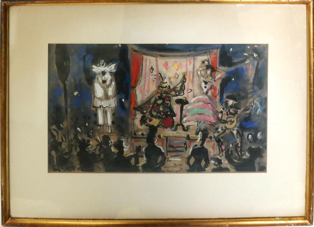 Geraud, Stage Scene, Gouache on Paper - 2