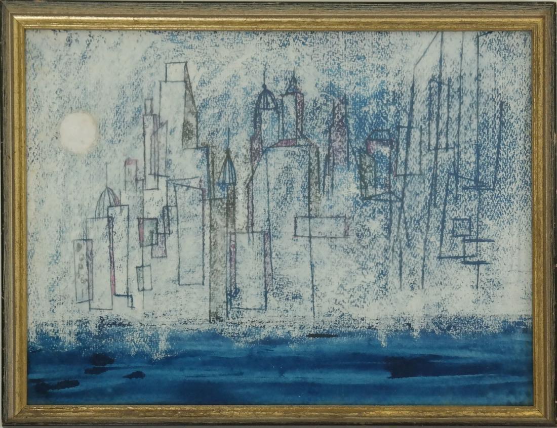 Modern City Skyline, Mixed Media - 2