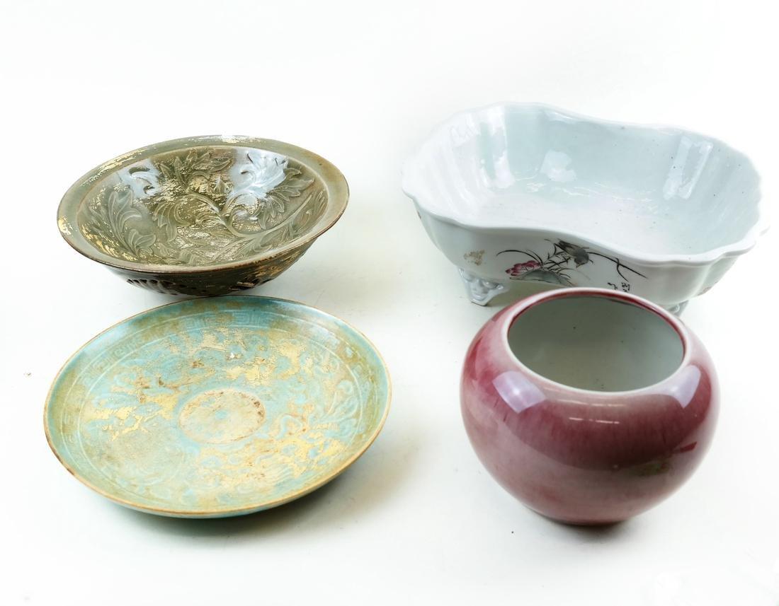 Four Various Asian-Style Ceramic Items