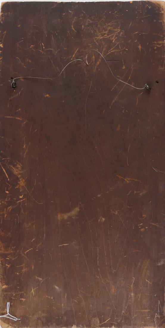 B Mann, Woman In Red, Oil on Board - 5