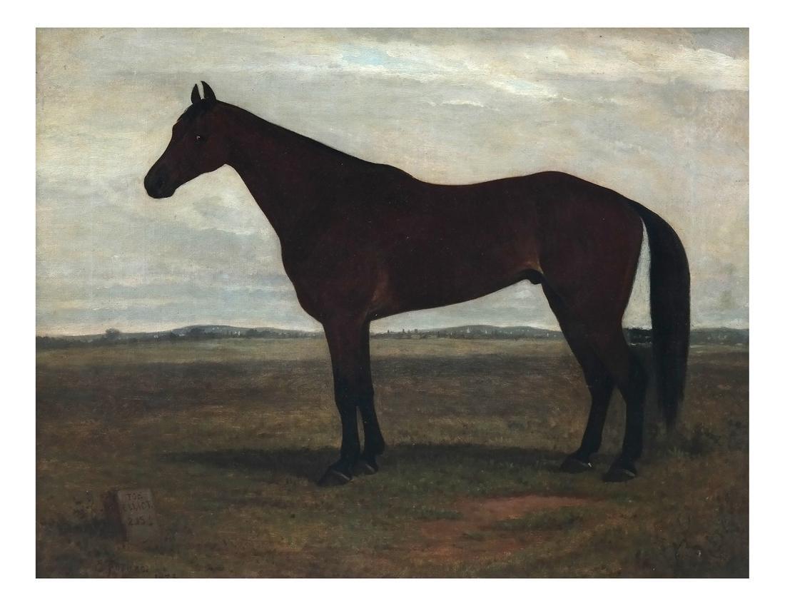 E. Foreus, Horse, Oil on Canvas