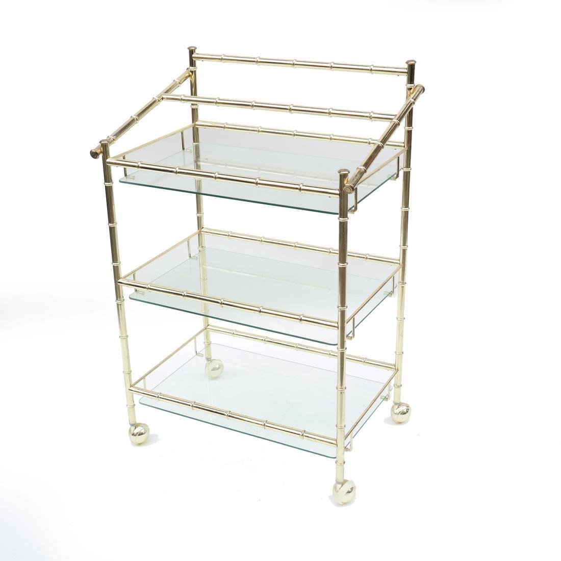 Three-Tier Brass Etagere