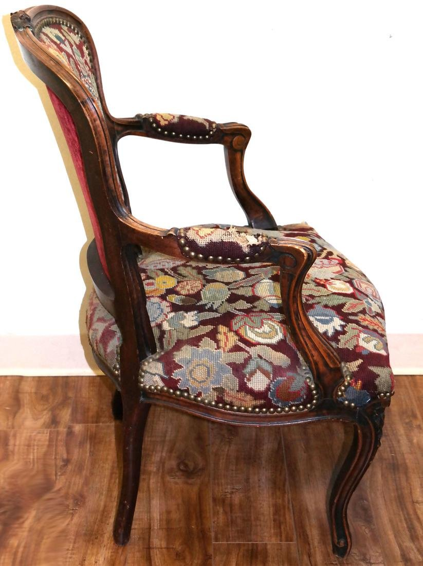 French Needlepoint Armchair - 2