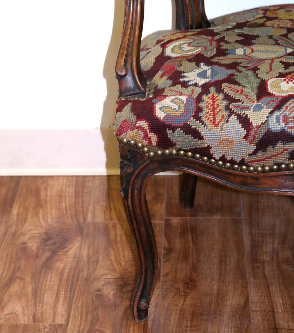 French Needlepoint Armchair - 6