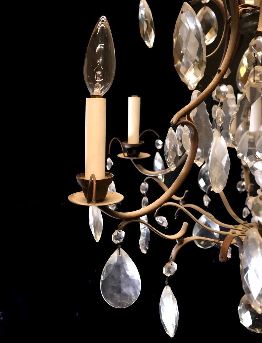 Six Light Brass Chandelier - 2