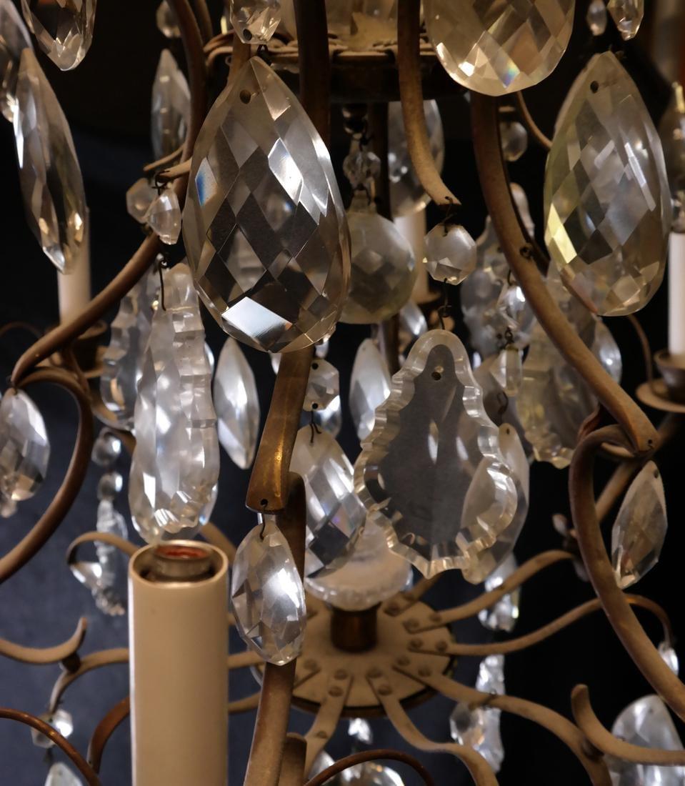 Six Light Brass Chandelier - 4