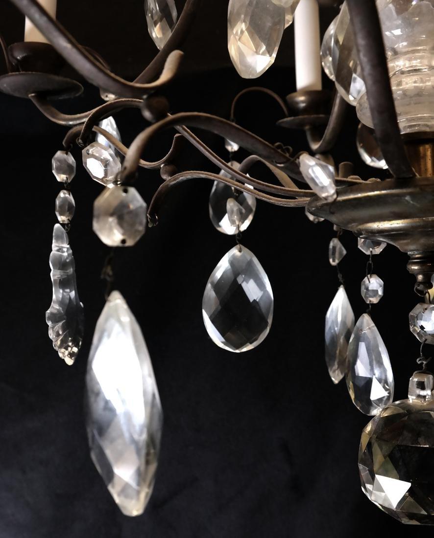 Six Light Brass Chandelier - 5