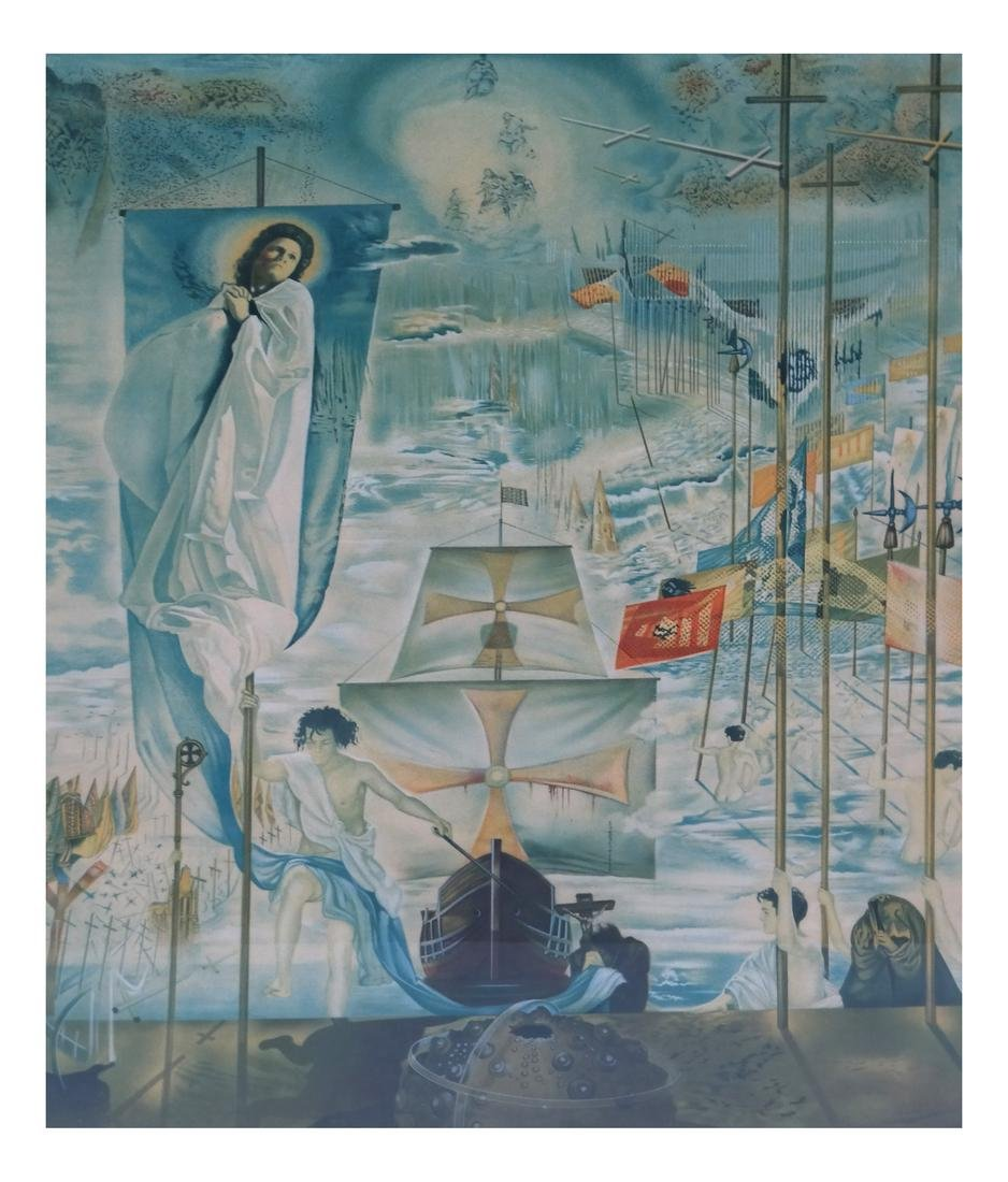Two Dali Prints, Discovery of America
