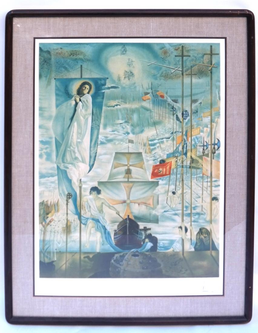 Two Dali Prints, Discovery of America - 2