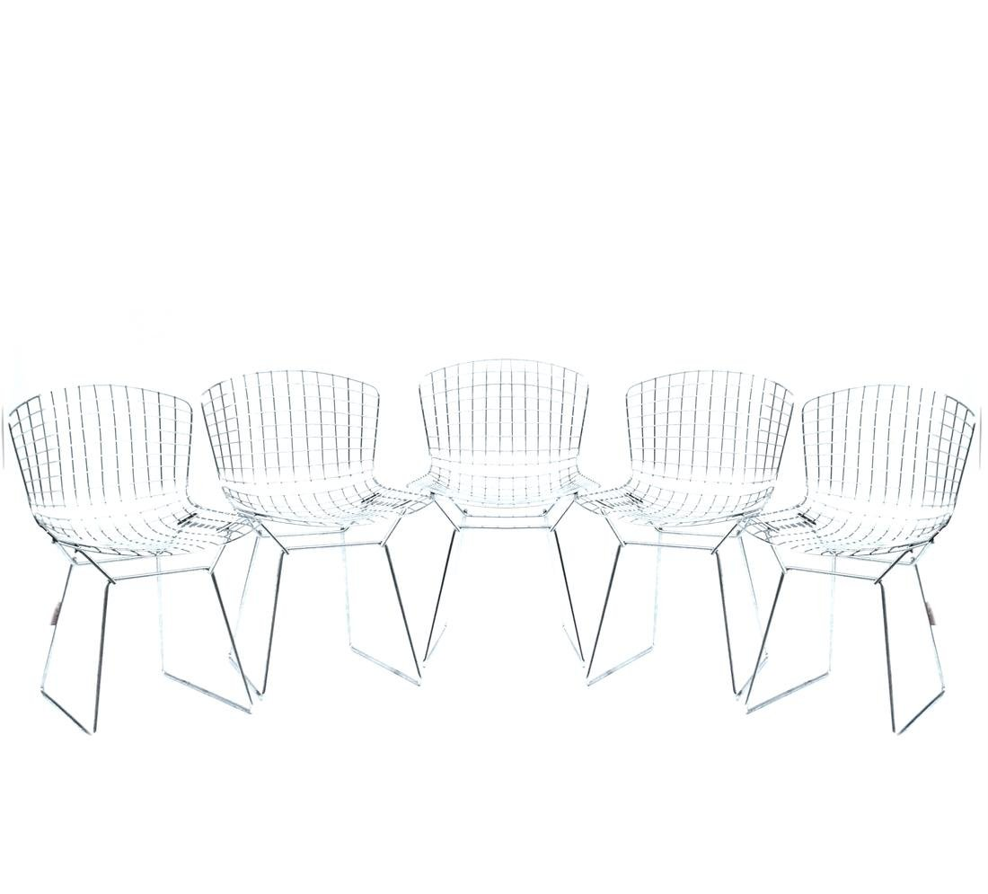 Five Bertoia-Style Chairs