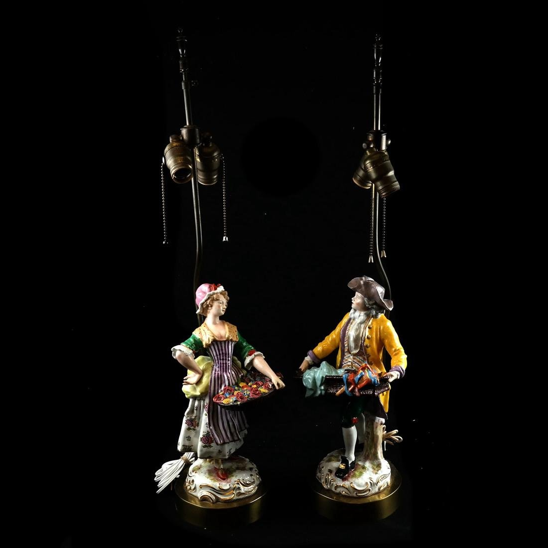 Pair of Figural Lamps