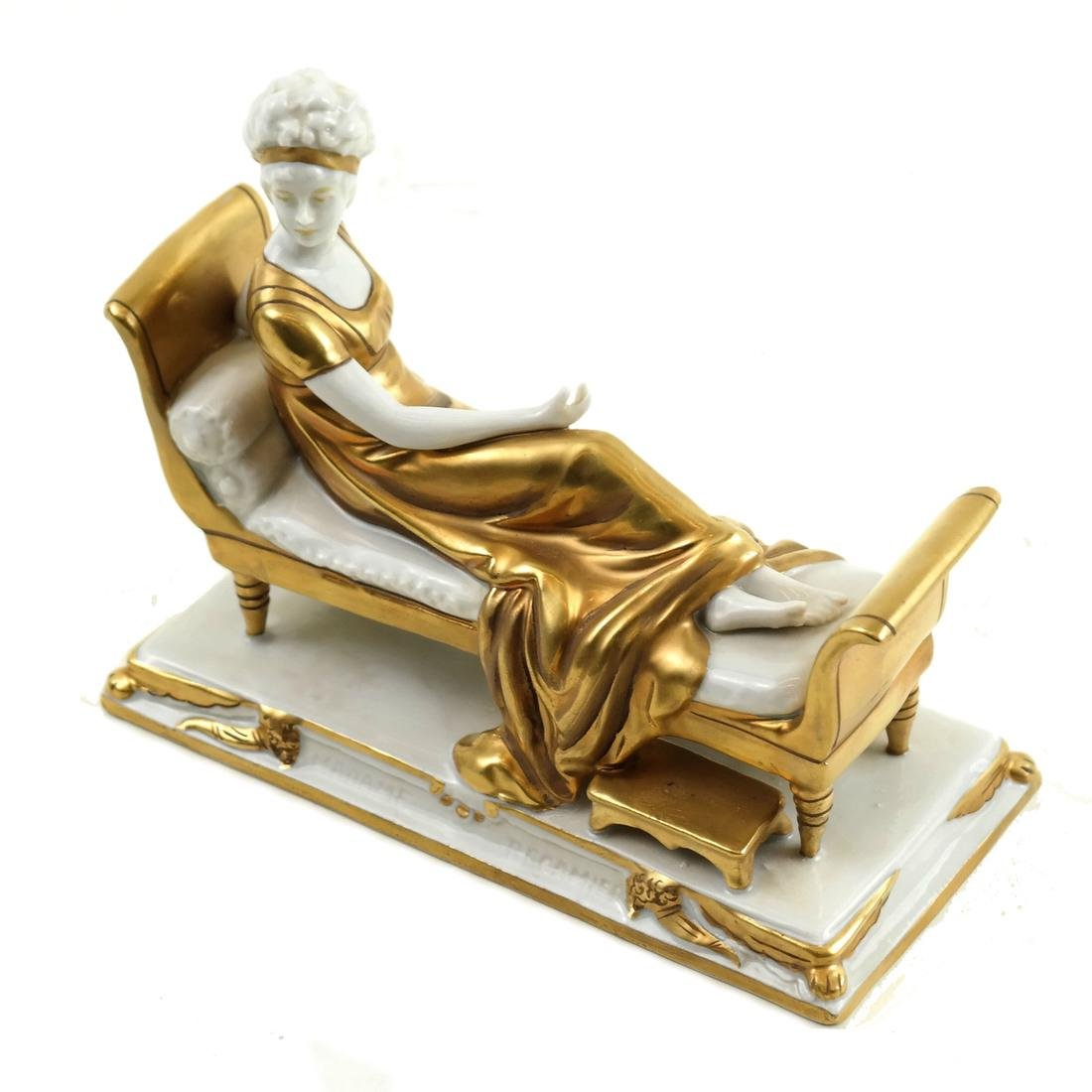 Porcelain Reclining Female Figure