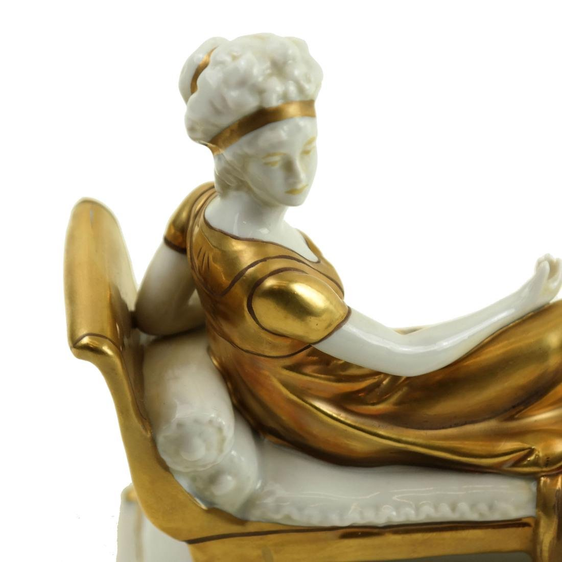 Porcelain Reclining Female Figure - 4