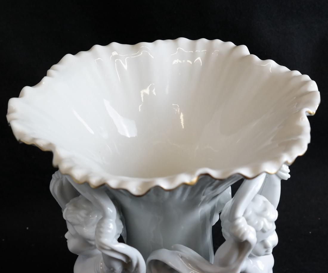 Parcel Gilt Porcelain Figural Vase - 2