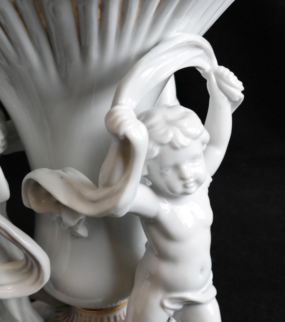 Parcel Gilt Porcelain Figural Vase - 3