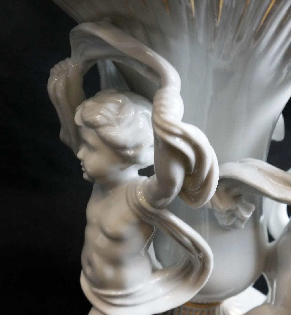 Parcel Gilt Porcelain Figural Vase - 5