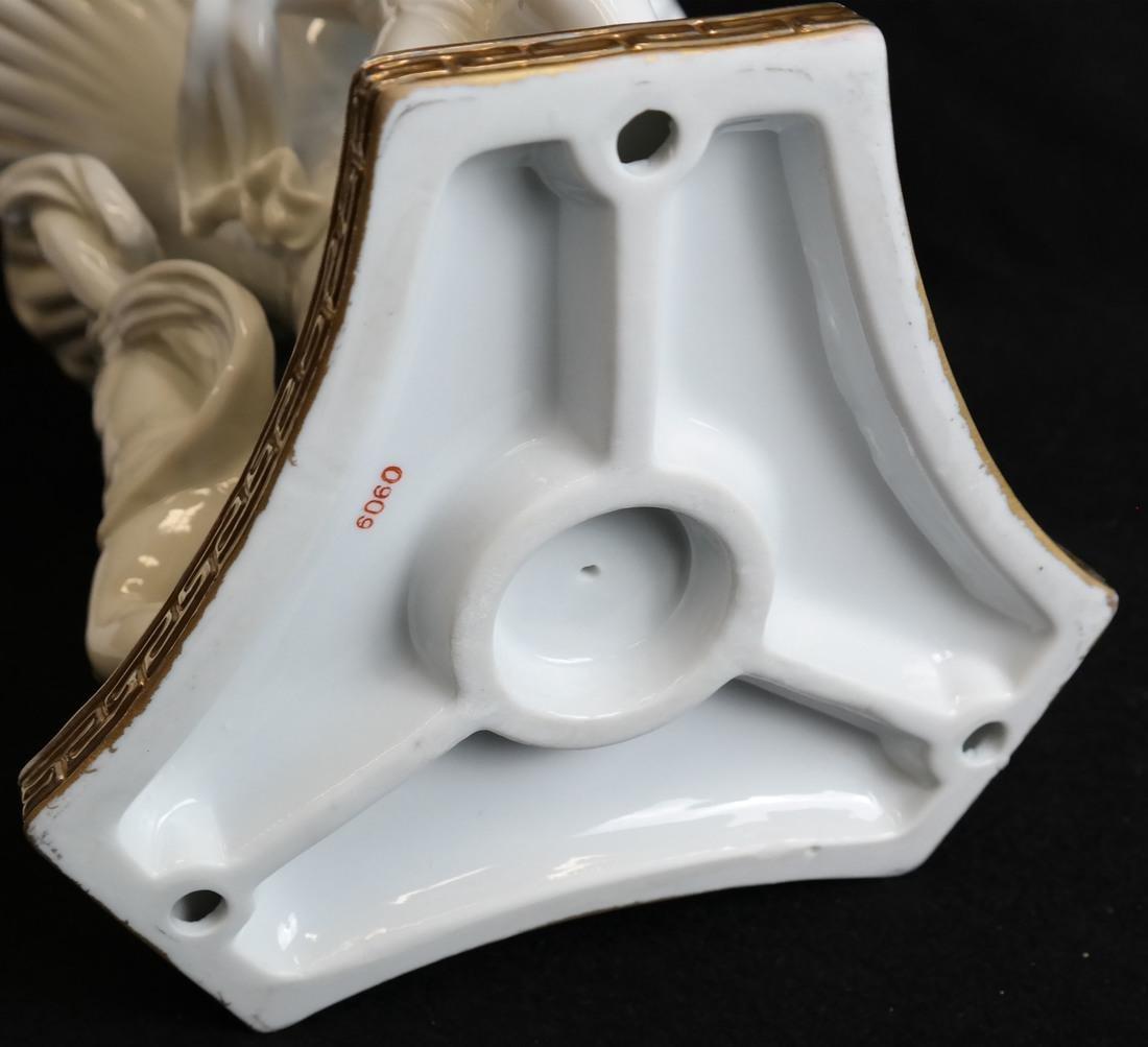 Parcel Gilt Porcelain Figural Vase - 6