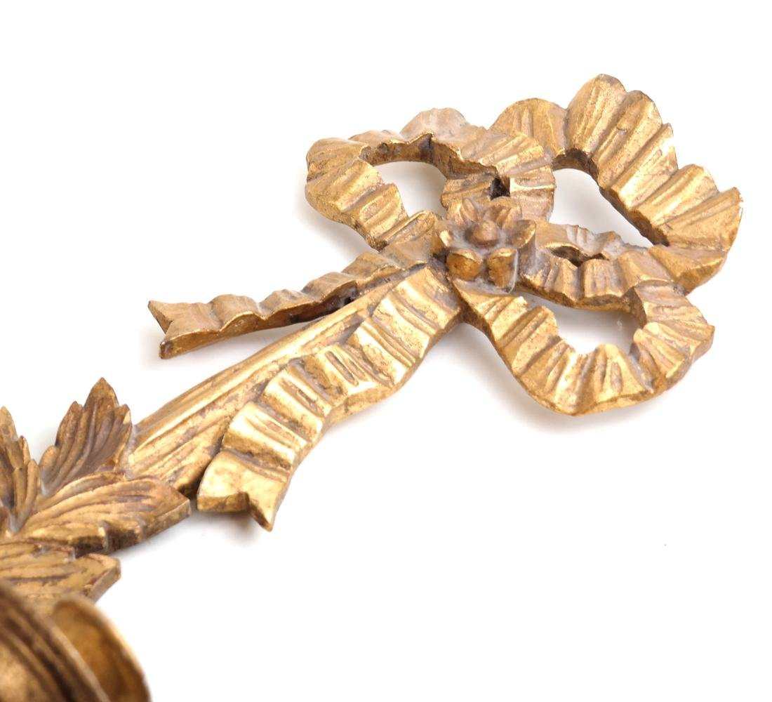 Pair of Gilt Decorated Sconces - 2