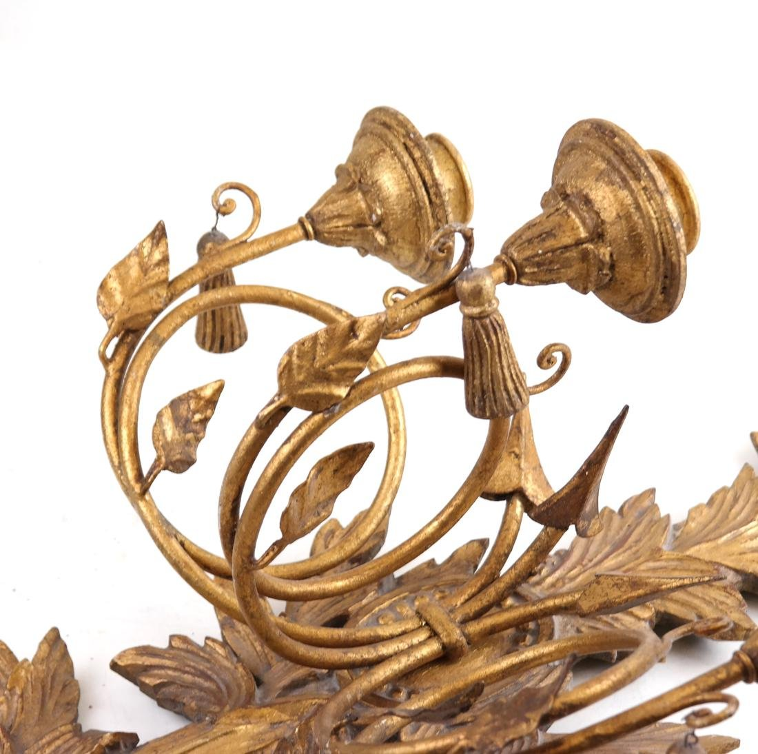 Pair of Gilt Decorated Sconces - 3