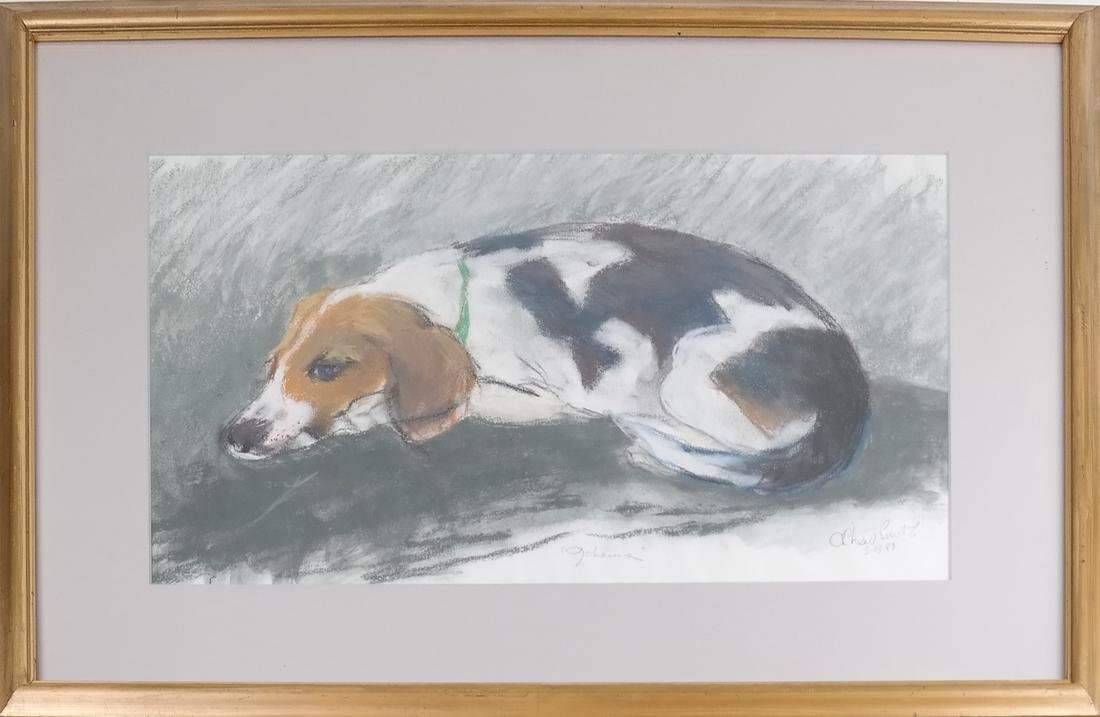 Resting Dog, Gouache - 2